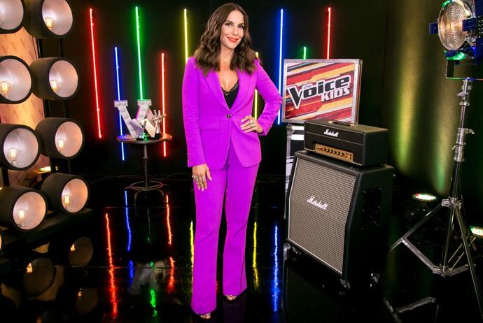 Ivete Sangalo aposta em terninho para estreia do The Voice Kids (Foto: Isabella Pinheiro / Gshow)