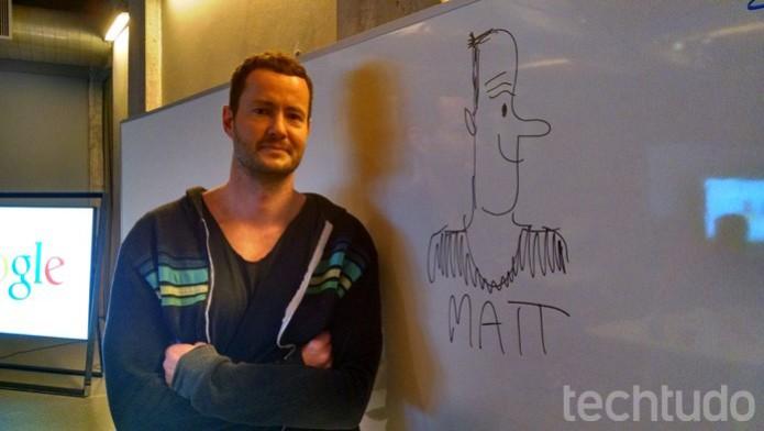 Antes de Cruickshank trabalhar no Google, ele era um dos principais ilustradores da Disney (Foto: Renato Bazan/TechTudo)