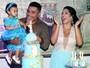 Naldo e Moranguinho festejam o aniversário de 1 ano da filha