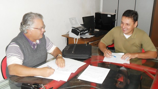 Edilson Pereira e Renato Montak, Guarani-MG (Foto: Cleber Côrrea/GLOBOESPORTE.COM)