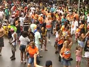 Blocos de rua irão agitar a capital durante o carnaval (Foto: Reprodução/TV Anhanguera)