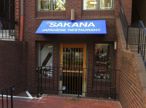 Em Washington, um restaurante japonês se chama 'Sakana'. (Foto: Dennis Barbosa/G1)