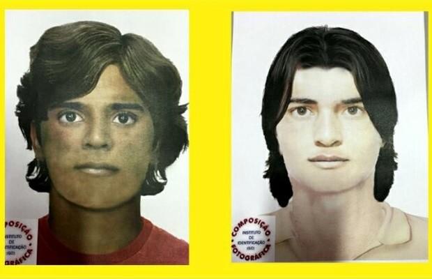 Polícia Civil fez retrato falado dos suspeitos de sair com idoso, em Goiás (Foto: Reprodução)