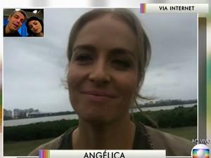 Angélica lamenta morte de Cristiano Araújo (Foto: TV Globo)
