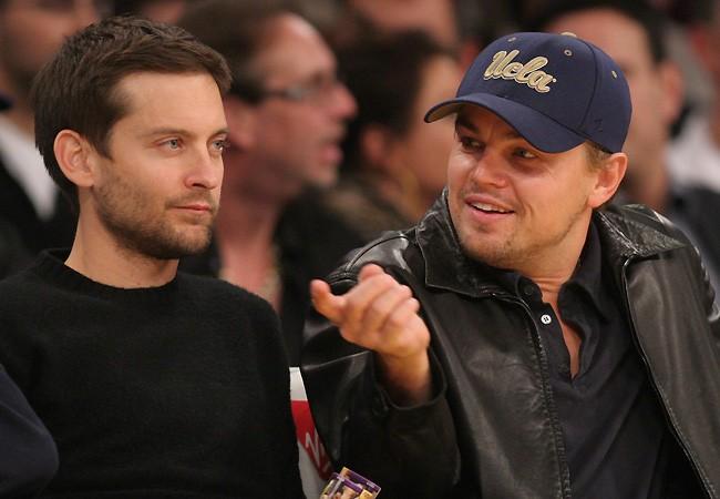 Os amigos de infncia Tobey Maguire e Leonardo DiCaprio (Foto: Divulgao)