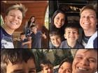 Michel Teló posta foto com Thaís Fersoza e sobrinhos: 'Treinando'