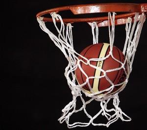 Bola de basquete e cesta nas Olimpíadas Escolares de João Pessoa  (Foto: Gaspar Nóbrega/COB)