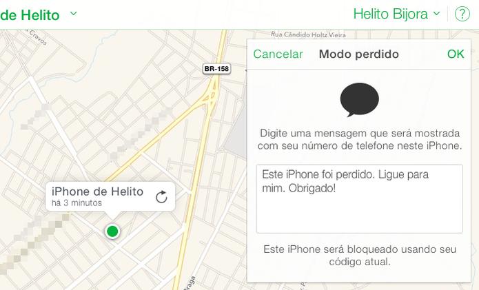 Digite uma mensagem para ser exibida no iPhone (Foto: Reprodução/Helito Bijora)  (Foto: Digite uma mensagem para ser exibida no iPhone (Foto: Reprodução/Helito Bijora) )