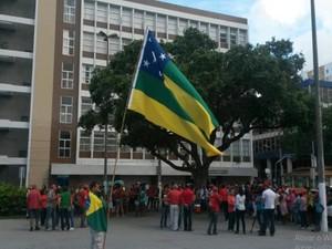 Manifestação em Aracaju  (Foto: Flávio Antunes/G1)