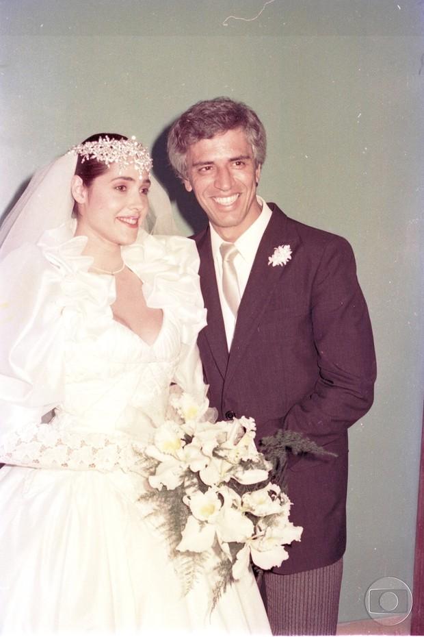 Christiane Torloni e Nuno Leal Maia em A Gata Comeu (Foto: Acervo Globo)