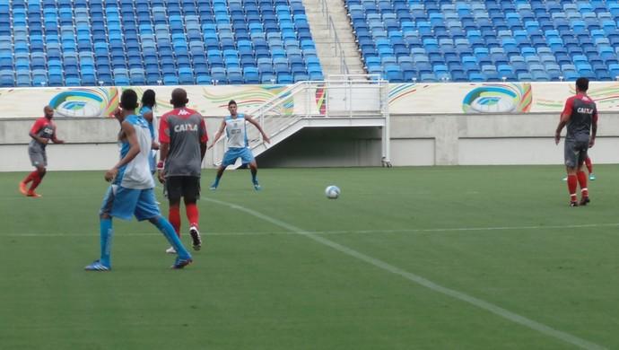 Jogo-treino América-RN x CSP, na Arena das Dunas (Foto: Carlos Arthur da Cruz/GloboEsporte.com)