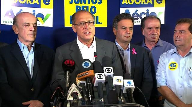 Governador Geraldo Alckmin diz que não vai faltar água na torneira