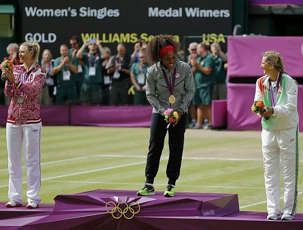 Serena Williams tênis Londres 2012 Olimpíadas final pódio (Foto: Reuters)