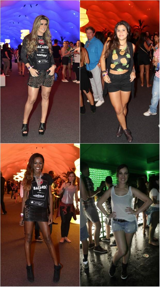Look no Rock in Rio:  Mirella Santos, Guilia Costa, Pathy Dejesus e Adriana Birolli deixam pernas à mostra (Foto: Ag.News/PhotoRio/Ego)