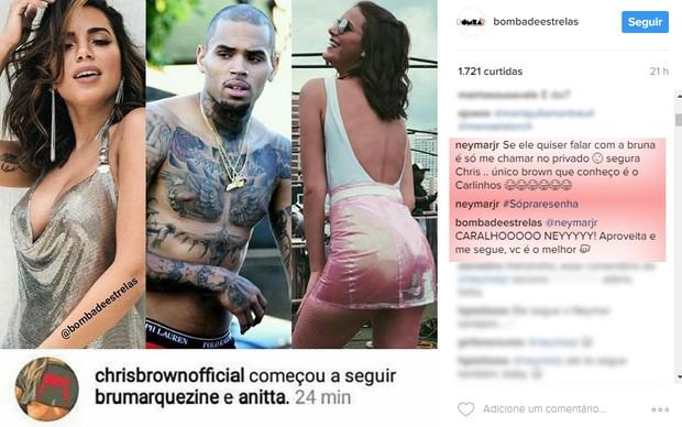 Neymar comenta (Foto: Reprodução/Instagram)