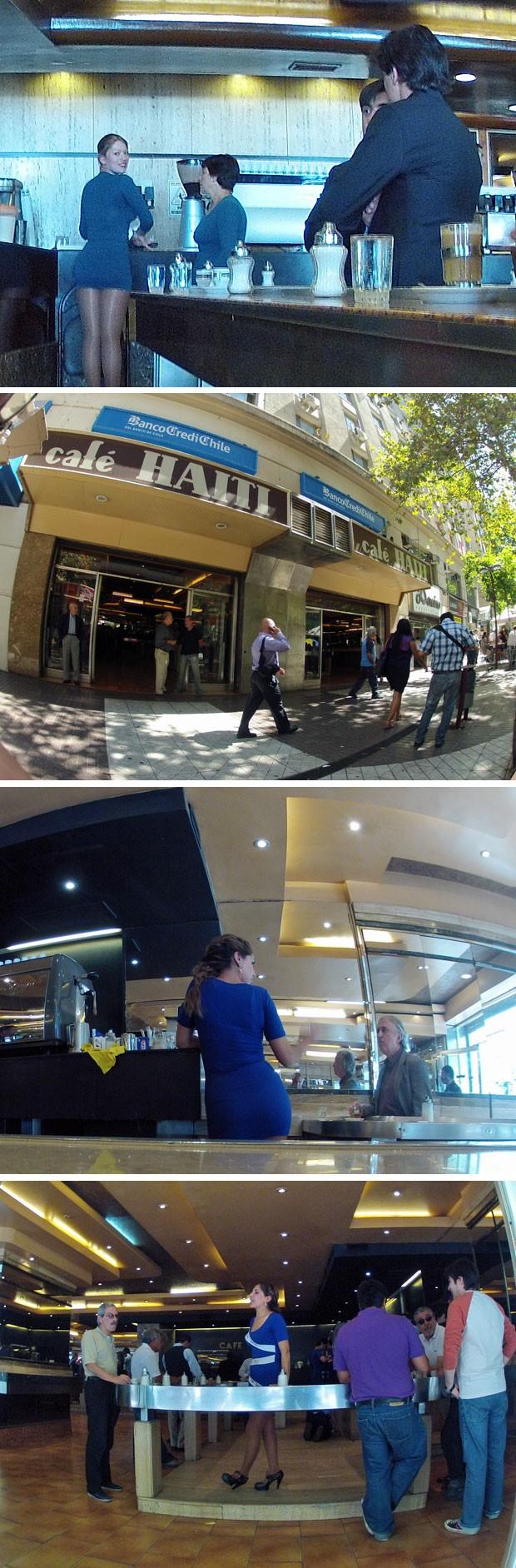 Café com pernas (Foto: Dennis barbosa/G1)