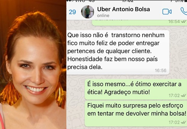 Letícia Colin teve bolsa devolvida por motorista de aplicativo (Foto: Vivian Fernandez/Editora Globo e Reprodução/Instagram)
