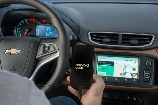 Onix Waze Android Auto (Foto: Divulgação)