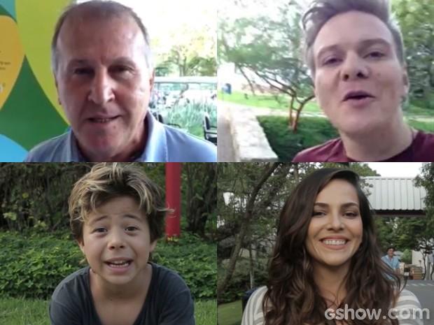 Vários famosos mandaram recados para os jogadores da Seleção (Foto: Geração Brasil/TV Globo)