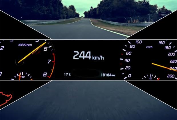 Teaser do Kia GT, em que o modelo atinge 244 km/h (Foto: Divulgação)