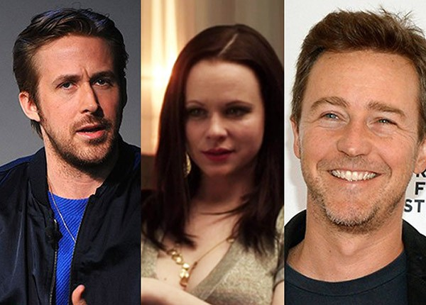 Ryan Gosling, Thora Birch e Edward Norton (Foto: Getty Images)