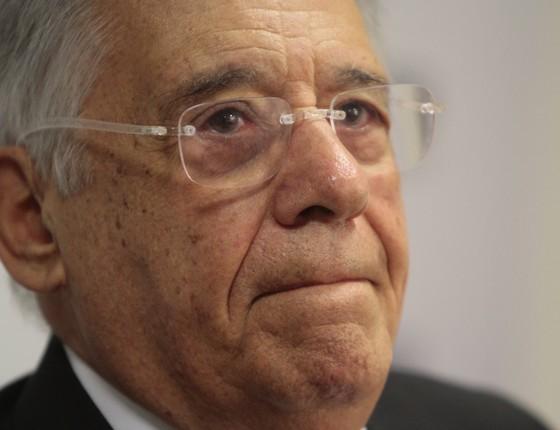 Palestra do ex-presidente Fernando Henrique Cardoso no Centro Universitário de Brasília (Foto: Ana Rayssa/Esp. CB/ D.A. Press)