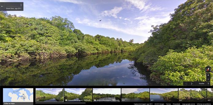 Google Street View passa a mostrar ecossistemas sensíveis às mudanças climáticas (Foto: Reprodução/Filipe Garrett)