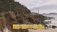 Ressaca causa prejuízos em praias de SC