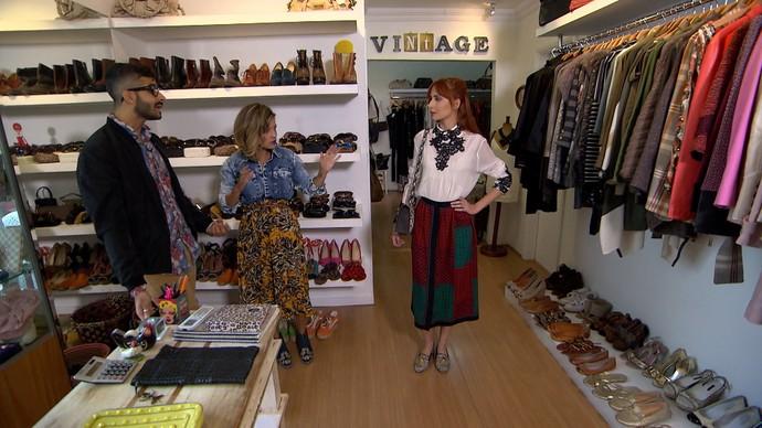 'Expresso da Moda' faz garimpo em brechós do Leblon (Foto: TV Bahia)