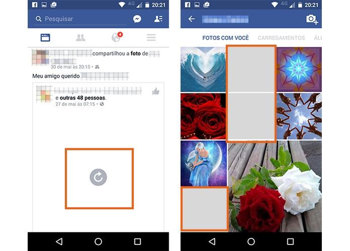 Aplicativo do Facebook não carrega imagens quando ligado no Wi-Fi (Foto: Reprodução/Barbara Mannara)