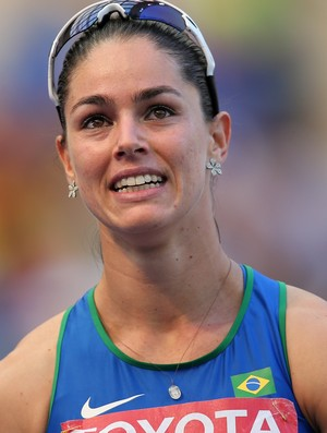 Franciela Krasucki no Mundial de Atletismo de Moscou (Foto: Getty Images)