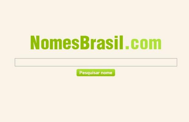 Sites 'Nomes Brasil' informa CPFs de cidadãos brasileiros e situação cadastral de documentos. (Foto: Reprodução/nomesbrasil.com)