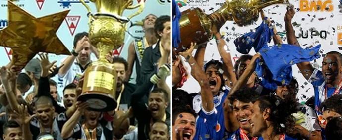 Atlético-MG e Cruzeiro detém a hegemonia do futebol mineiro (Foto: Montagem Globoesporte.com)