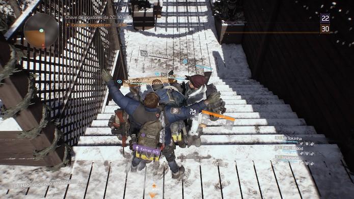 The Division: é possível interagir com jogadores de outro esquadrão na Zona Cega (Foto: Reprodução/Victor Teixeira)
