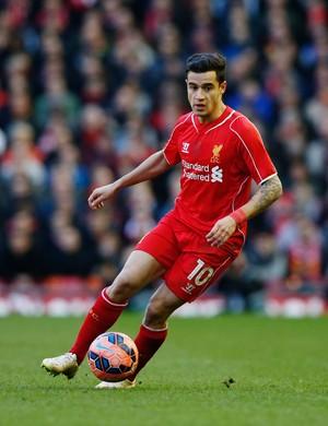 Liverpool x Blackburn - Philippe Coutinho em ação (Foto: Reuters)