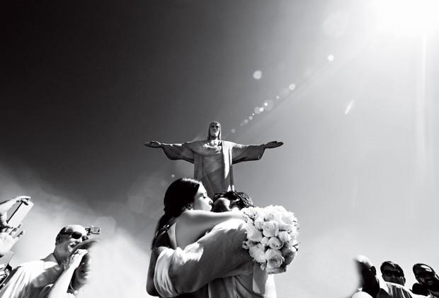 Camila e Carlinhos se casaram em uma cerimônia que aconteceu na capela do Cristo Redentor, no Rio, em 2014 (Foto: Tulio Thomé)