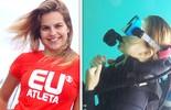 Bianca Salgueiro se encanta  com o mergulho no mar (eu atleta)