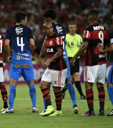 Emerson Sheik durante Flamengo x Corinthians no Maracanã (Foto: André Durão/GloboEsporte.com)