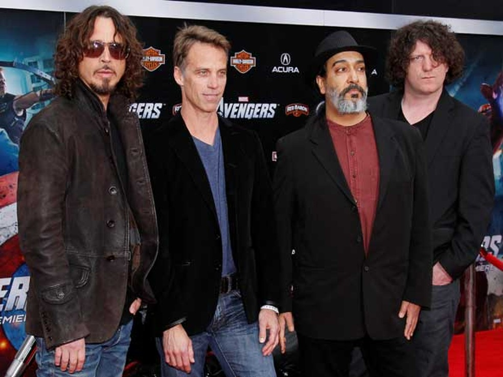 Soundgarden, com Chris Cornell, Matt Cameron, Kim Thayil e Ben Shepherd em 2012 (Foto: Danny Moloshok / Arquivo / Reuters)