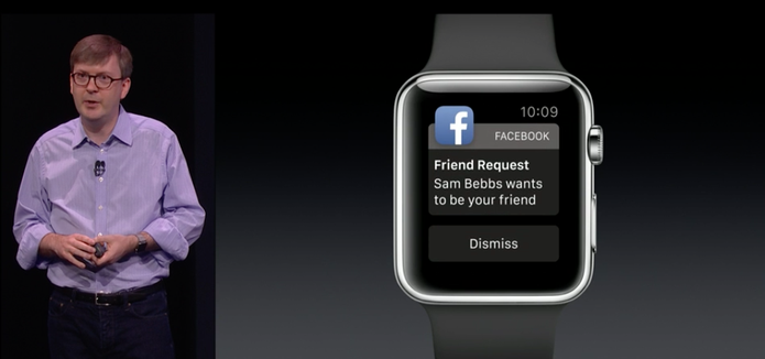 Notificações do Facebook no Apple Watch (Foto: Reprodução/Apple)
