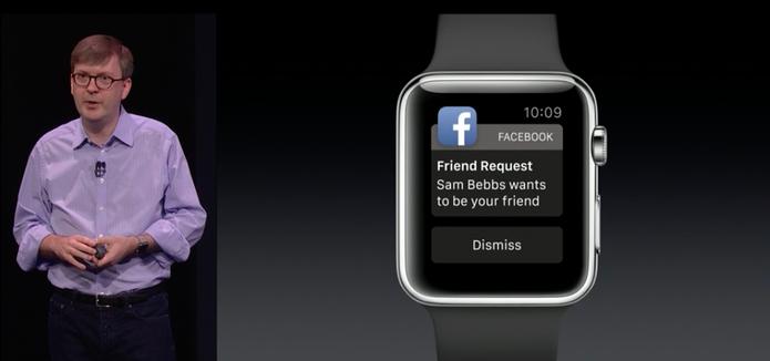 Notificações do Facebook no Apple Watch (Foto: Reprodução/Apple)