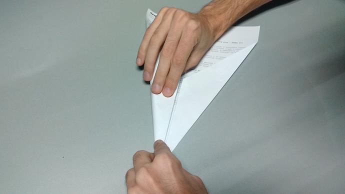 O papel é reutilizado (Foto: Divulgação / TV Gazeta ES)
