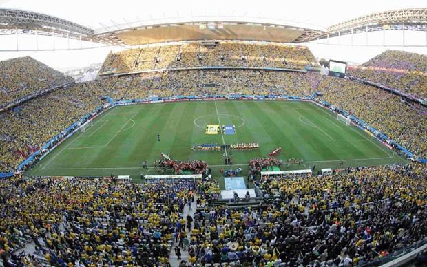 Arena Corinthians, em Itaquera, foi palco da abertura da Copa do Mundo (Foto: Paulo Whitaker/Reuters)