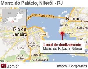 Mapa Niterói  (Foto: Editoria de Arte/G1)