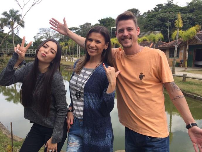 Camille Reis, Thalita e Guilherme vão apresentar quadro do JA (Foto: RBS TV/Divulgação )