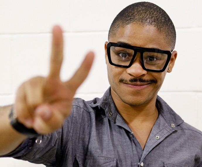 Pedro Lima agradou a todos com seu bigode grosso e voz inconfundível (Foto: Isabella Scovino / Gshow)
