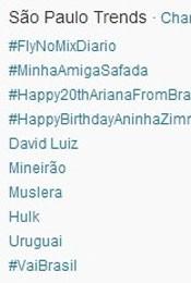 Trending Topics em SP às 17h24 (Foto: Reprodução/Twitter.com)