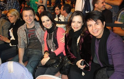 Sandy, Lucas Lima, Noely e Xororó; UFC 126 (Foto: Evelyn Rodrigues)