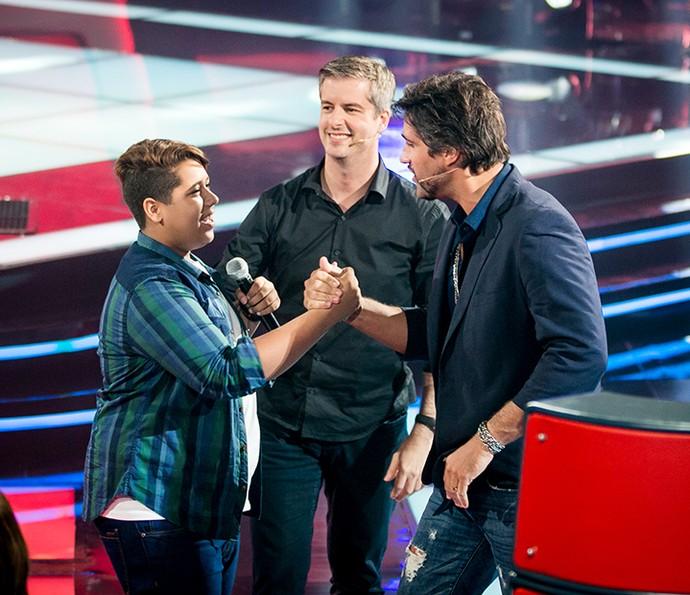 Sobrou emoção na hora da escolha do candidato no The Voice Kids (Foto: Isabella Pinheiro/Gshow)