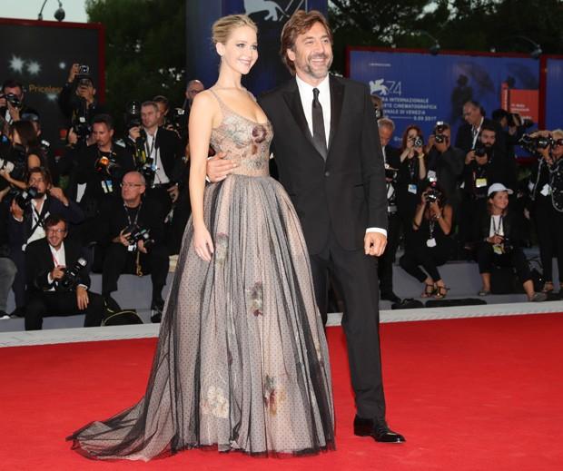 Jennifer Lawrence e Javier Bardem  (Foto: Getty Images)
